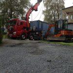 transport og heising av brakker