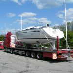 frakting av båt på veien 4
