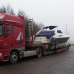 frakting av båt på veien 2