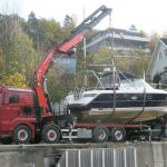 heising av liten båt