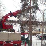 byggeplassheising av takstoler på tomt