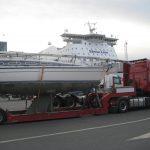 transport av seilbåt med stena line