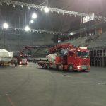 kranbiler i arena