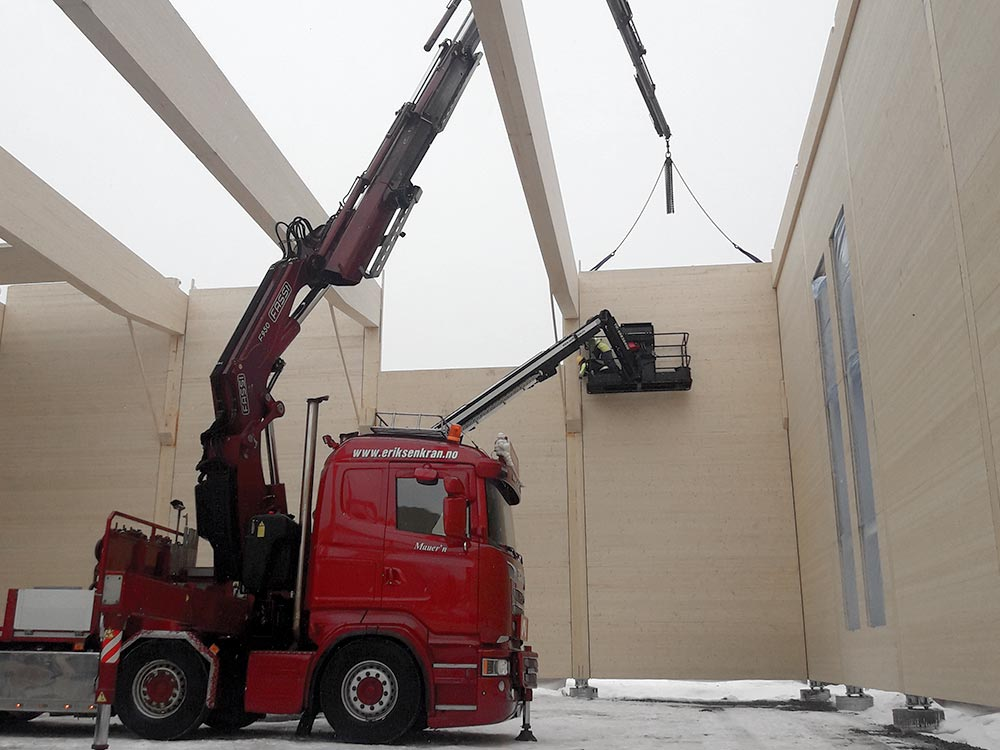 Heising av byggemoduler